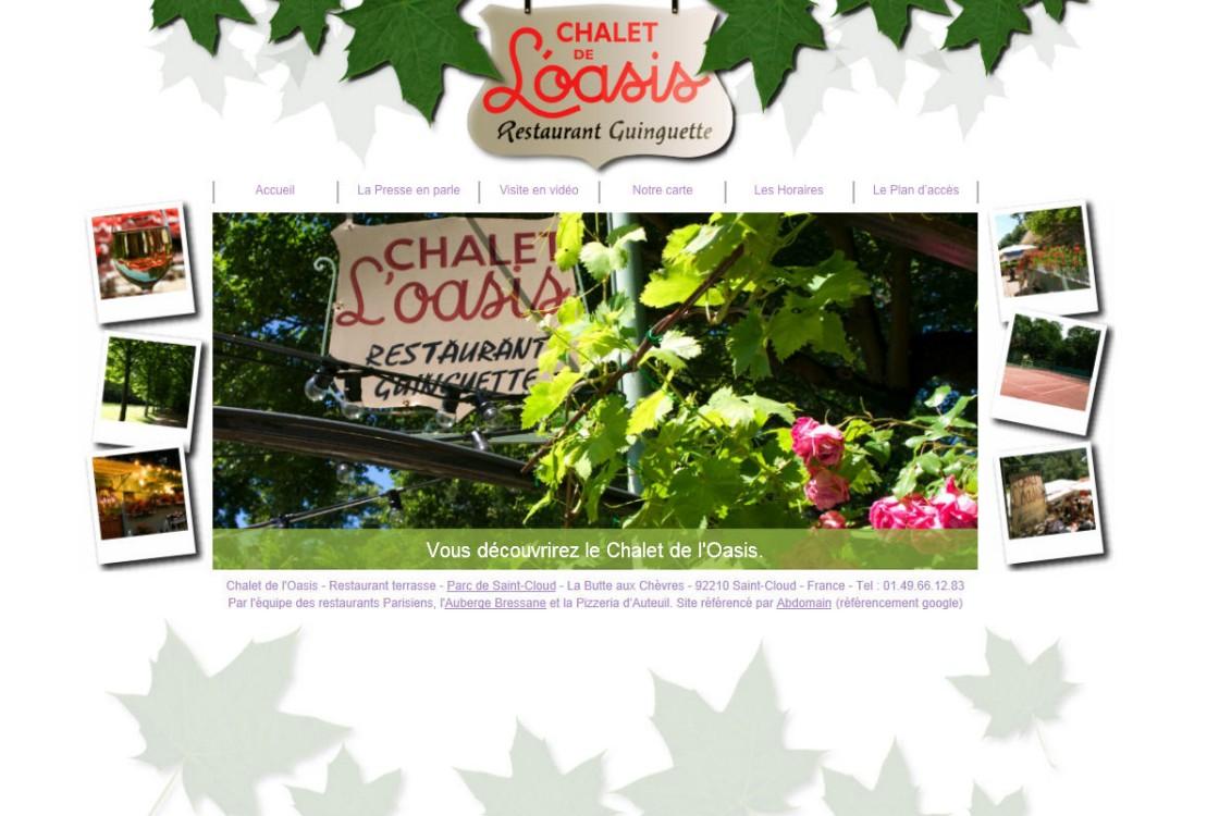 Chalet Oasis - Page d'accueil du site