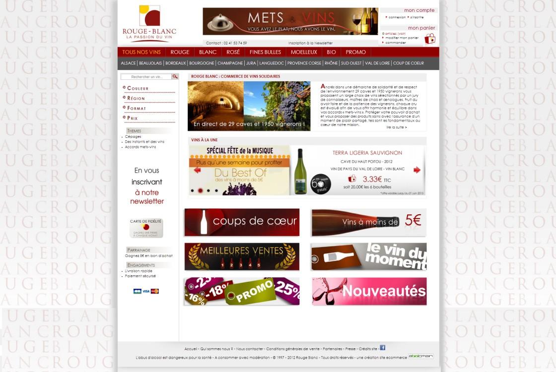 Rouge Blanc - Page d'accueil du site