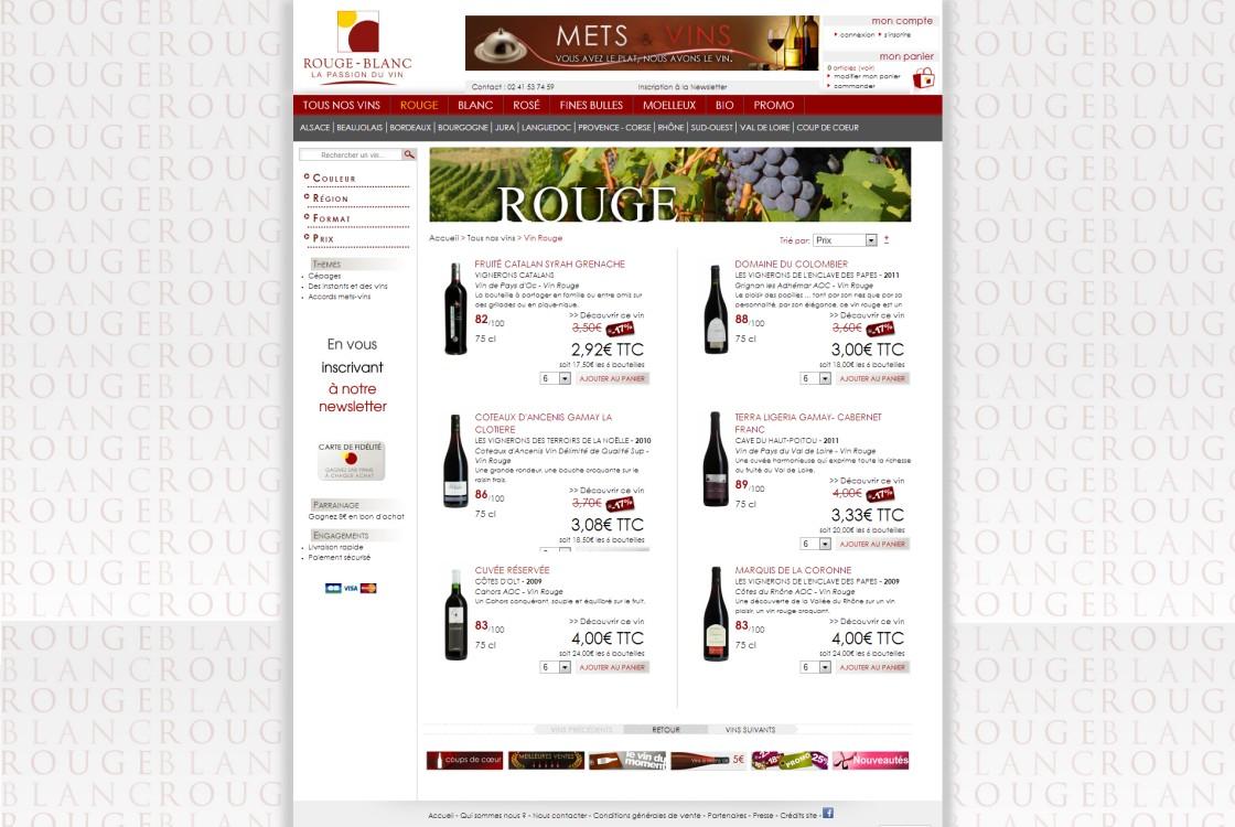 Rouge Blanc - Page des vins rouges
