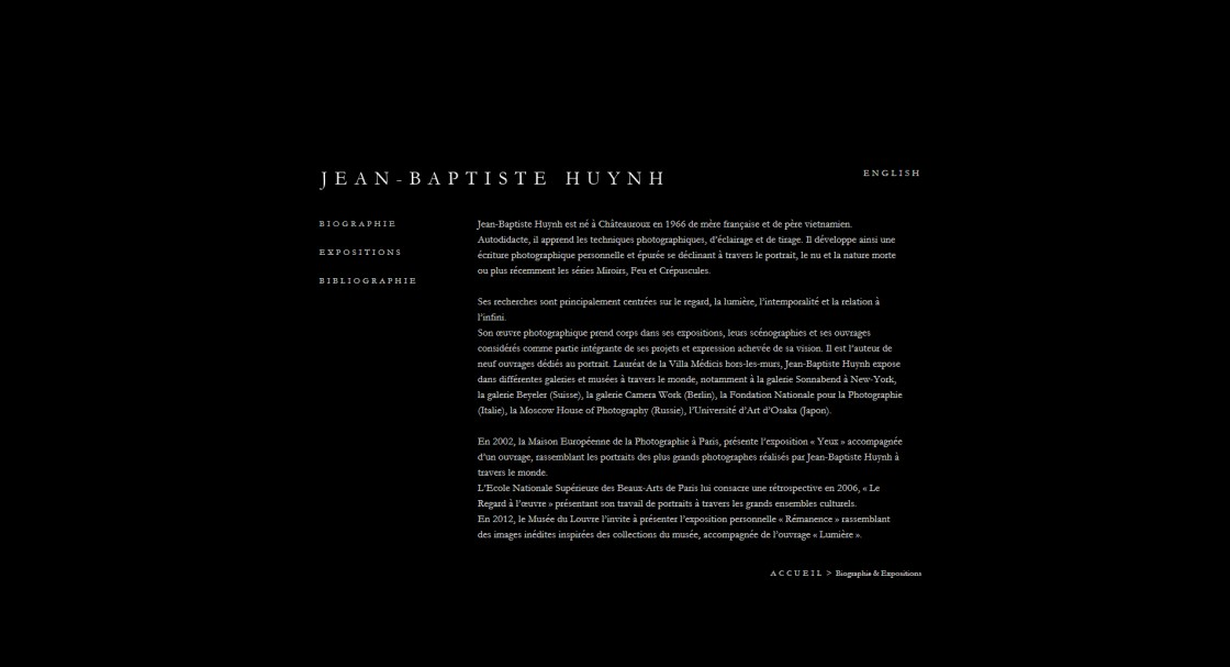 Jean Baptiste Huynh - La page Biographie
