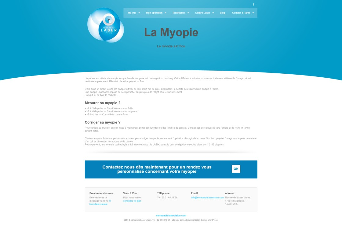 Normandie Laser Vision -  page Myopie