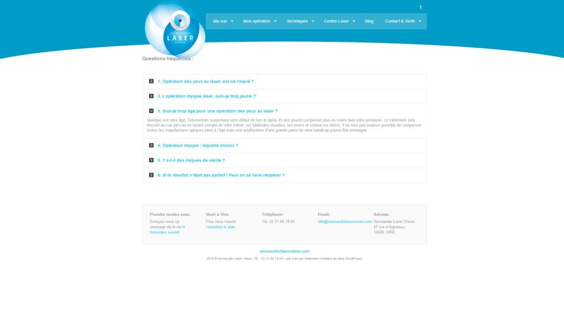 Normandie Laser Vision - Page FAQ