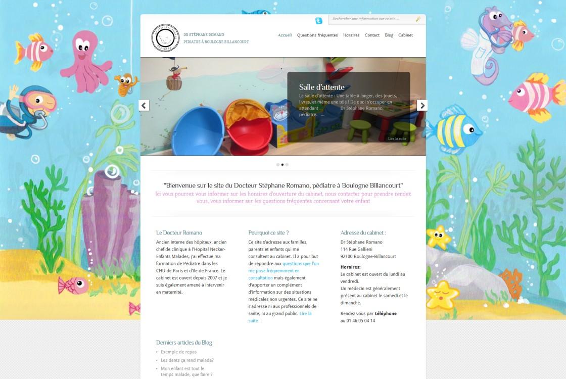 Romano - Page d'accueil du site