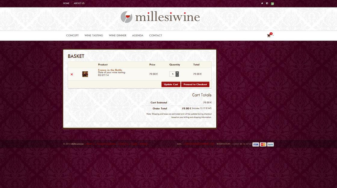 Millesiwine - Page Panier