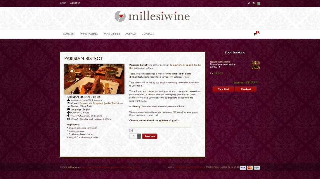 Millesiwine - Page Parisian Bistrot