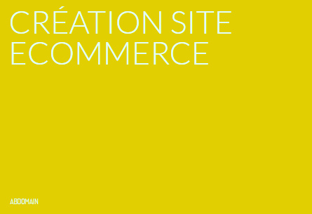 Création site ecommerce
